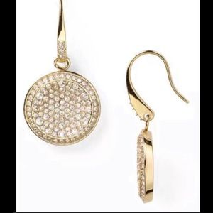 MK ROUND PAVE SWAROVSKI CRYSTAL DANGLE DESIGNER
